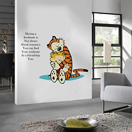Rawpockets u0027Calvin and Hobbes Quote About Friendshipu0027 Wall Sticker (PVC Vinyl 1 & Buy Rawpockets u0027Calvin and Hobbes Quote About Friendshipu0027 Wall ...