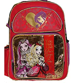 676f912394dd Mattel EVER AFTER HIGH Large Backpack BAG Tote Apple White Raven Queen