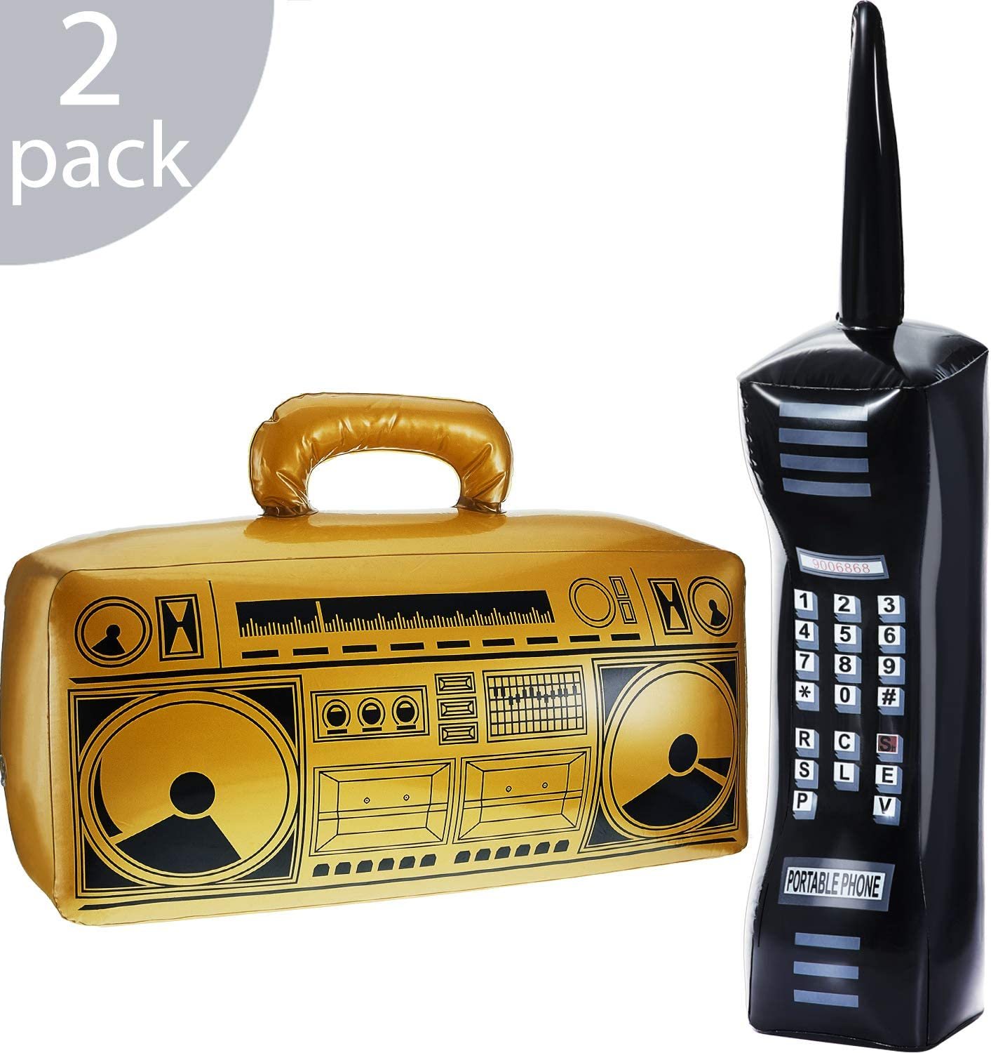 DERAYEE Inflatable Blow up Retro Mobile Phone 80s 90s Party/&Fancy Dress Accessories for Kids and Adults
