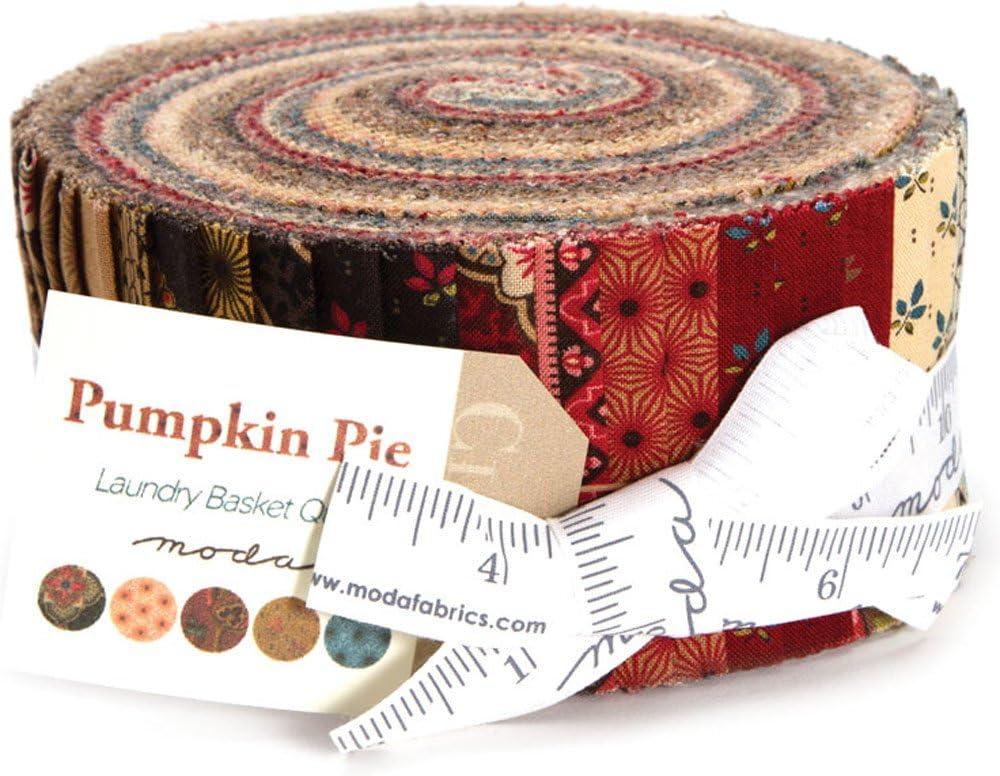 Laundry Basket Quilts Pumpkin Pie Prints Jelly Roll 40 2.5-inch Strips Moda Fabrics 42280JR