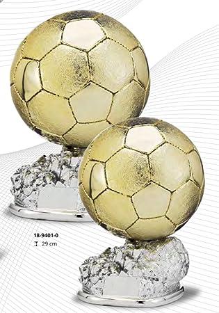 Trofeo réplica balón de oro personalizado GRABADO (24): Amazon.es ...