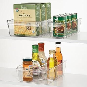 mDesign 3-teiliges Aufbewahrungsbox-Set – ideal zur Küchen Ablage ...
