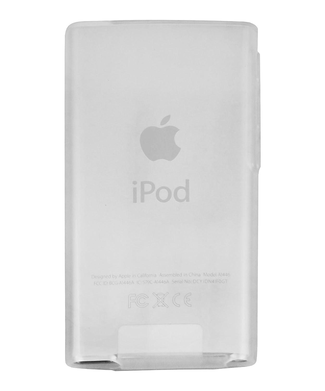 mumbi TPU Silikon Hülle für iPod Nano 7G Schutzhülle (7. Generation) transparent weiss 812-iPod-Nano