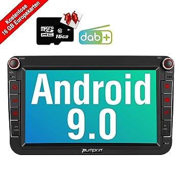PUMPKIN - Radio de Coche Android 9.0 para VW, con GPS, Tarjeta de ...