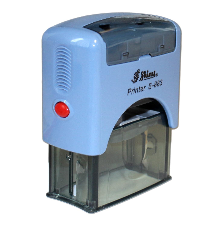 Selbstf/ärbe-stempel Firmenstempel Stempel-automat 14 x 38 mm Stempelplatte selber erstellen Textstempel Shiny S-883 zum Selbstgestalten