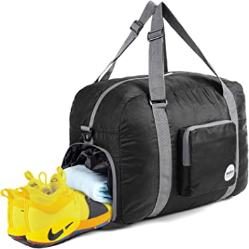 half price in stock release date: SportsNew Foldable Duffel Bag - Gym Bag - Luggage Gym Totes for Sports  Travel Gym with Shoes Compartment