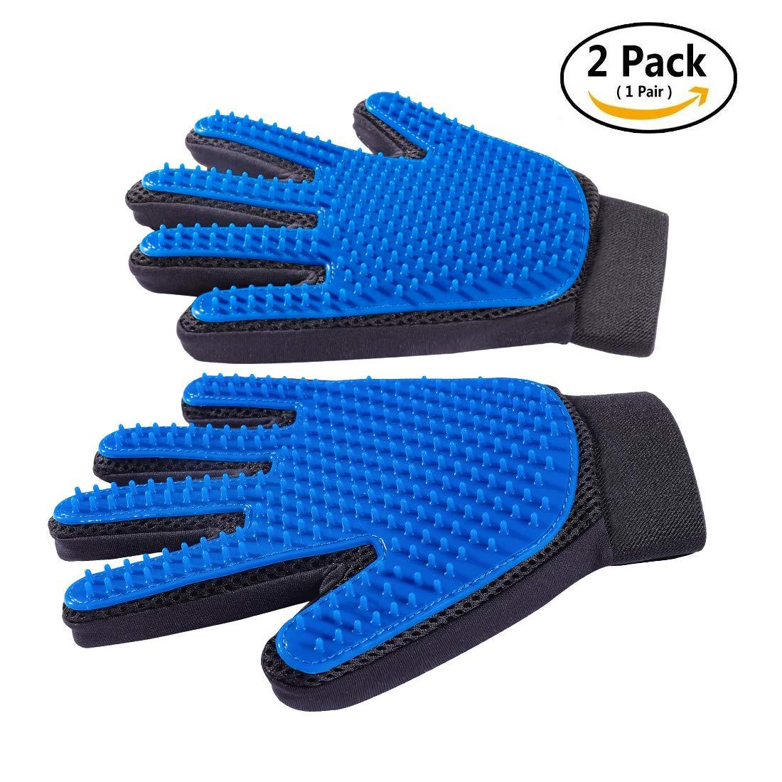 Derosen Deshedding Gloves 1 Pair - Dog Grooming Glove - Cat Glove Brush - Pet Grooming Glove - Dog & Cat Brush - Pet Hair Remover - Pet Hair Removal - Dog Grooming - Grooming Glove - Cat Hair Remover