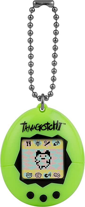 Amazon.es: TAMAGOTCHI BANDAI 42869 Original Neon-Feed, Care, Nurture-Virtual Pet with Chain for on The go Play