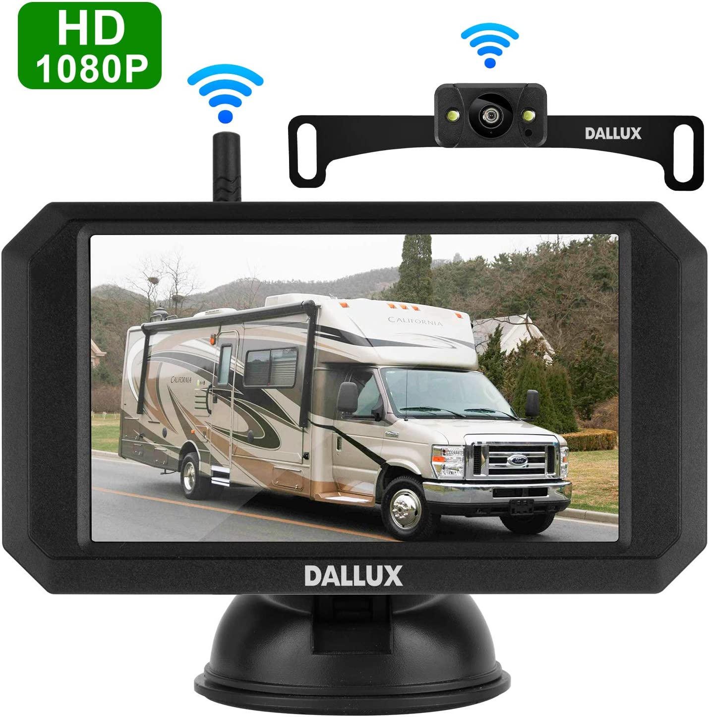 Wireless Backup Camera Kit with Stable Digital Signal,5 Inch Monitor and Rear View Camera
