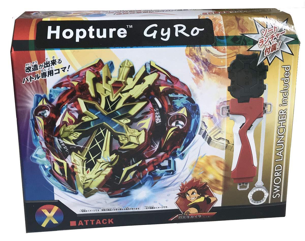 Hopture Bey Battle Burst 2 in 1 Metal Fusion Battling Tops with 4D Launcher Grip Battle Set