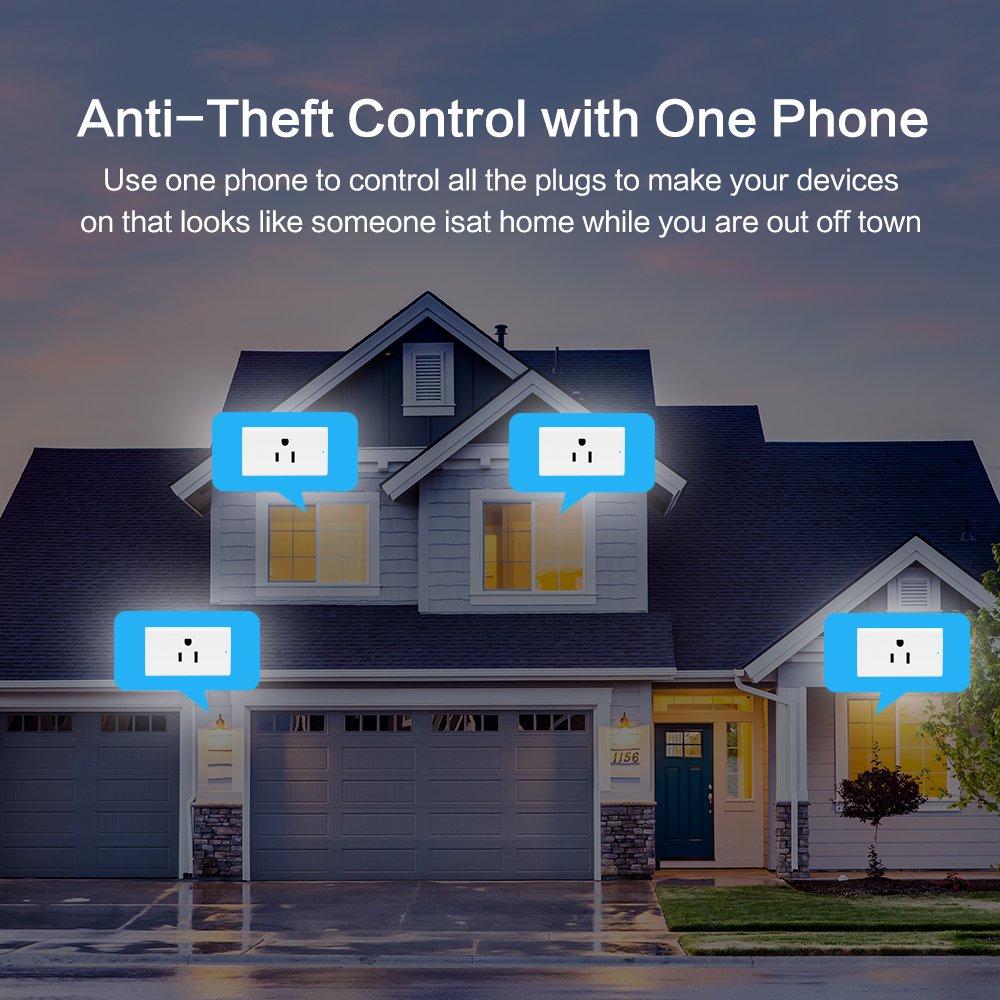 2glt WiFi Smart Steckdose Timer//Energieüberwachung Homeg mit Amazon Alexa//Google