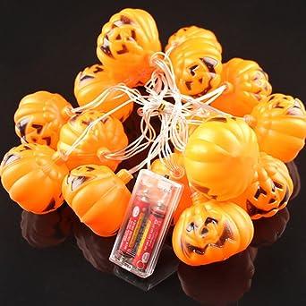 LEDMOMO 16 LED Halloween Lanterne Citrouille String Lumières Lampe De Décoration  Pour Intérieur Et Extérieur