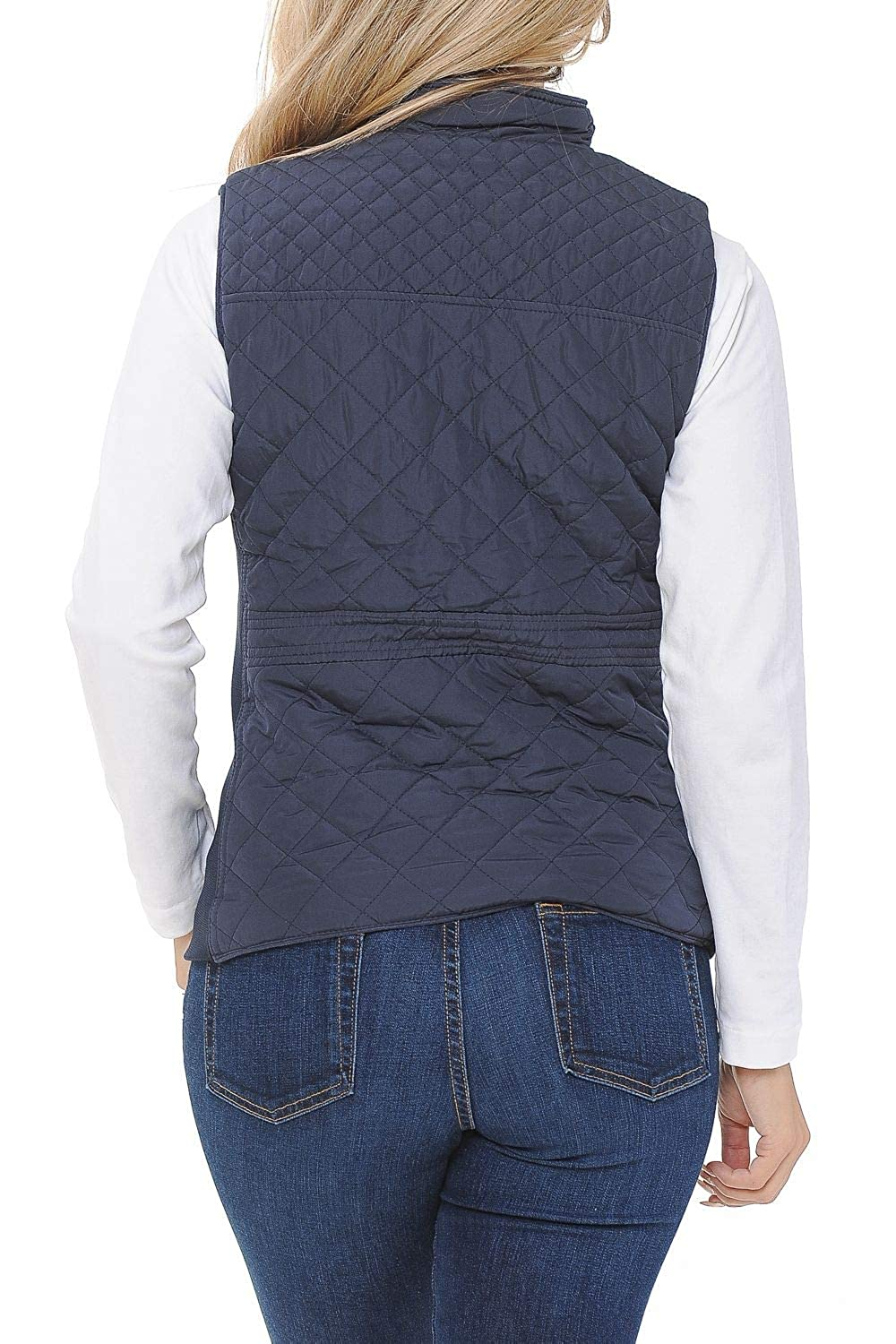 Aulin/é Collection Womens Quilted Zip Up Lightweight Padding Vest
