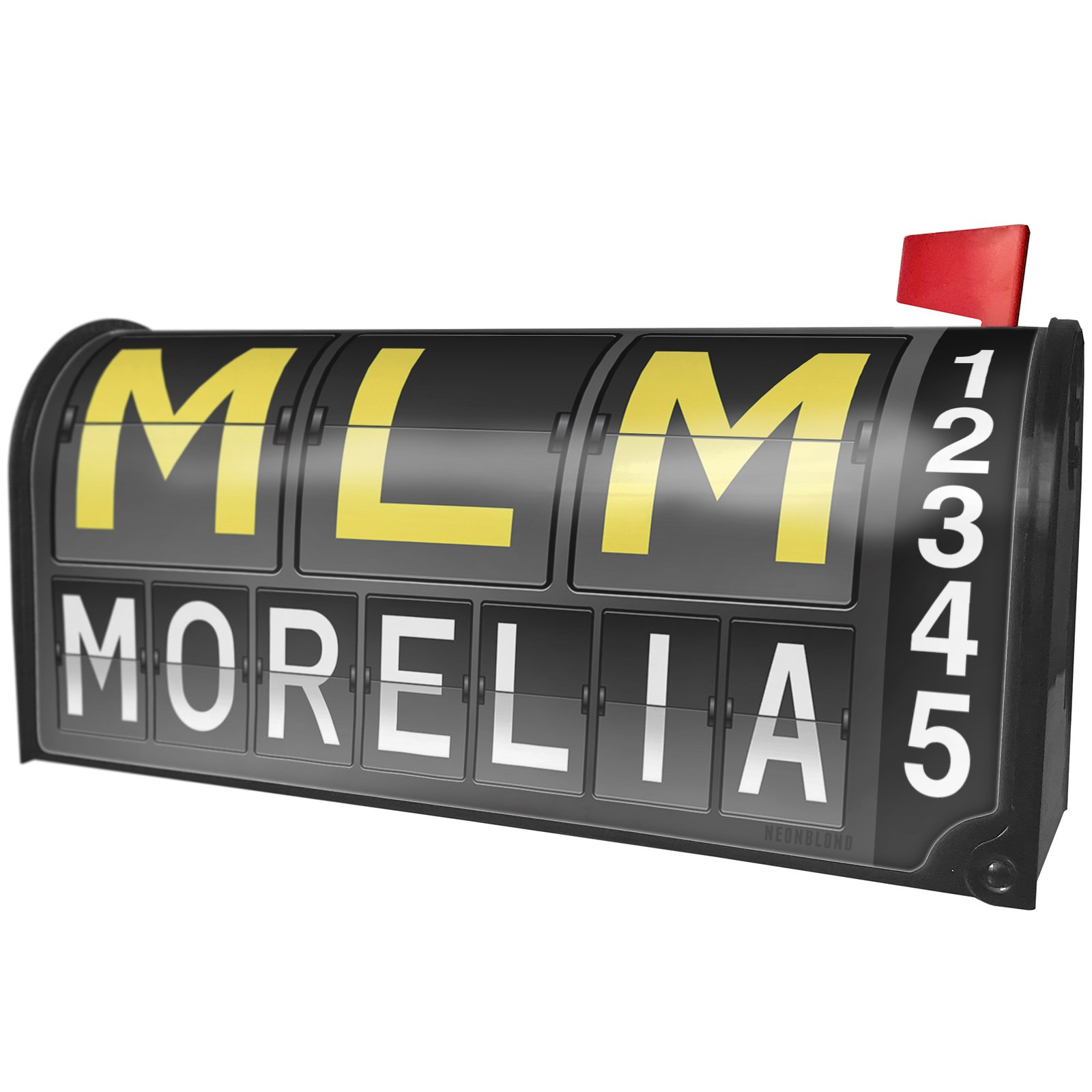 NEONBLOND MLM Airport Code for Morelia Magnetic Mailbox Cover Custom Numbers