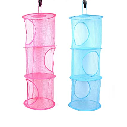 Charmant Mesh Hanging Storage,Kids Toy Storage Basket Organizer Bags Hanging Clothes  Dryer Net,Multifunctional
