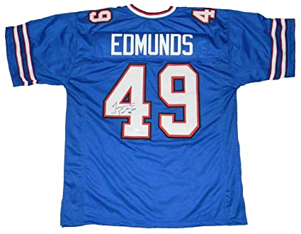49 Store Autographed Certified Nfl Collectibles Signed At Jerseys Amazon's Jsa Sports Blue Edmunds - Tremaine Jersey