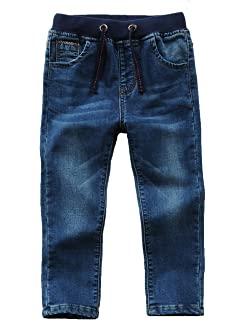 6ac709ce89 Echinodon Jungen Jeanshose 100% Baumwolle Kinder Jeans Hose  Leicht/Weich/Atmungsaktiv