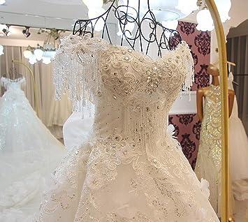 Lmk Wedding Dress Word Shoulder Long Tailor Luxury Diamond Princess