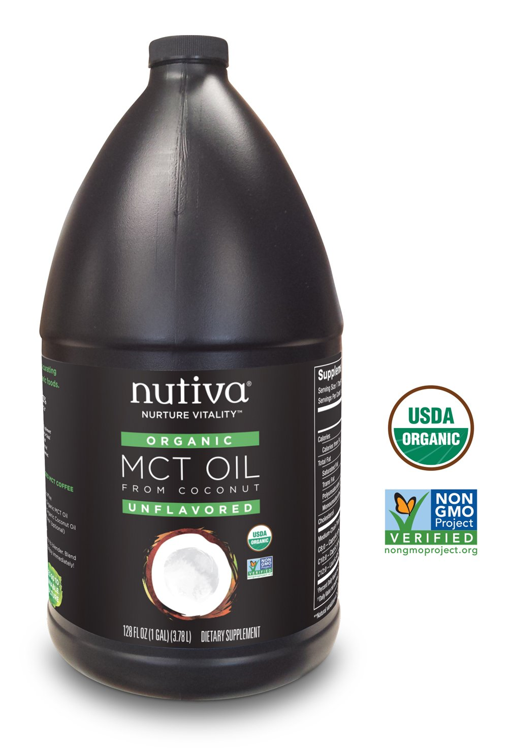 Nutiva Organic MCT Oil, 128-ounce by Nutiva