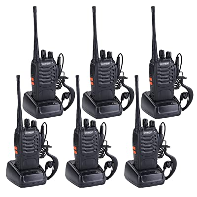 Walkie Talkies for Adults Rechargeable Wireless Walkie Talkies Long Range Two Way Radios with Earpiece Charger included(Pack of 6)