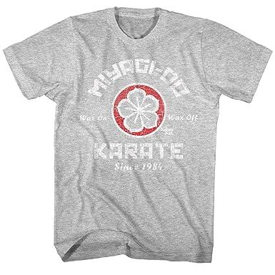 168000c8 Amazon.com: Karate Kid New Miyagi-Do Karate Logo Distressed Vintage Style  Adult Mens T-Shirt: Clothing