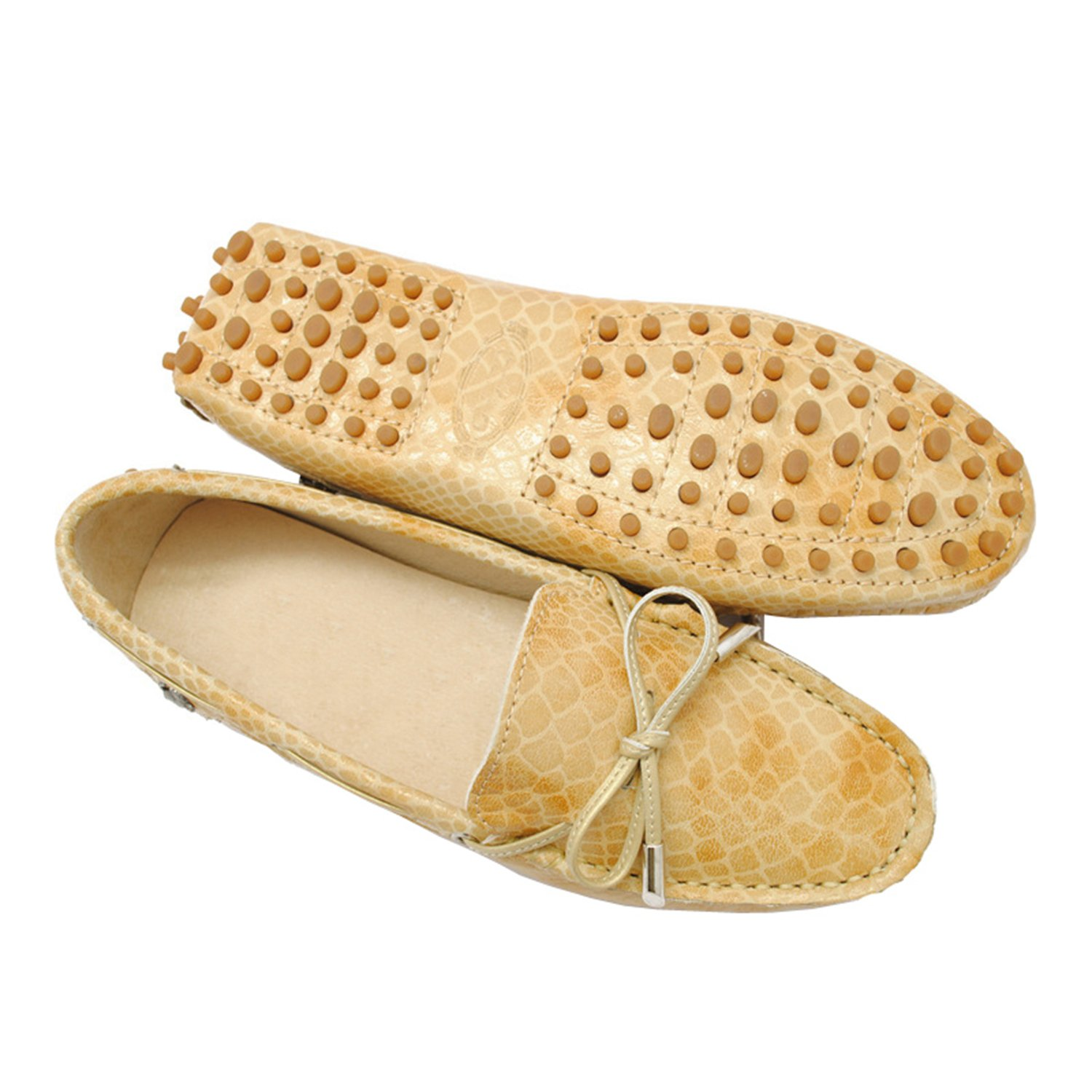 9d75e8f86dc98 Minishion Women's Casual Knot Synthetic Driving Shoes Loafers Moccasin Flats