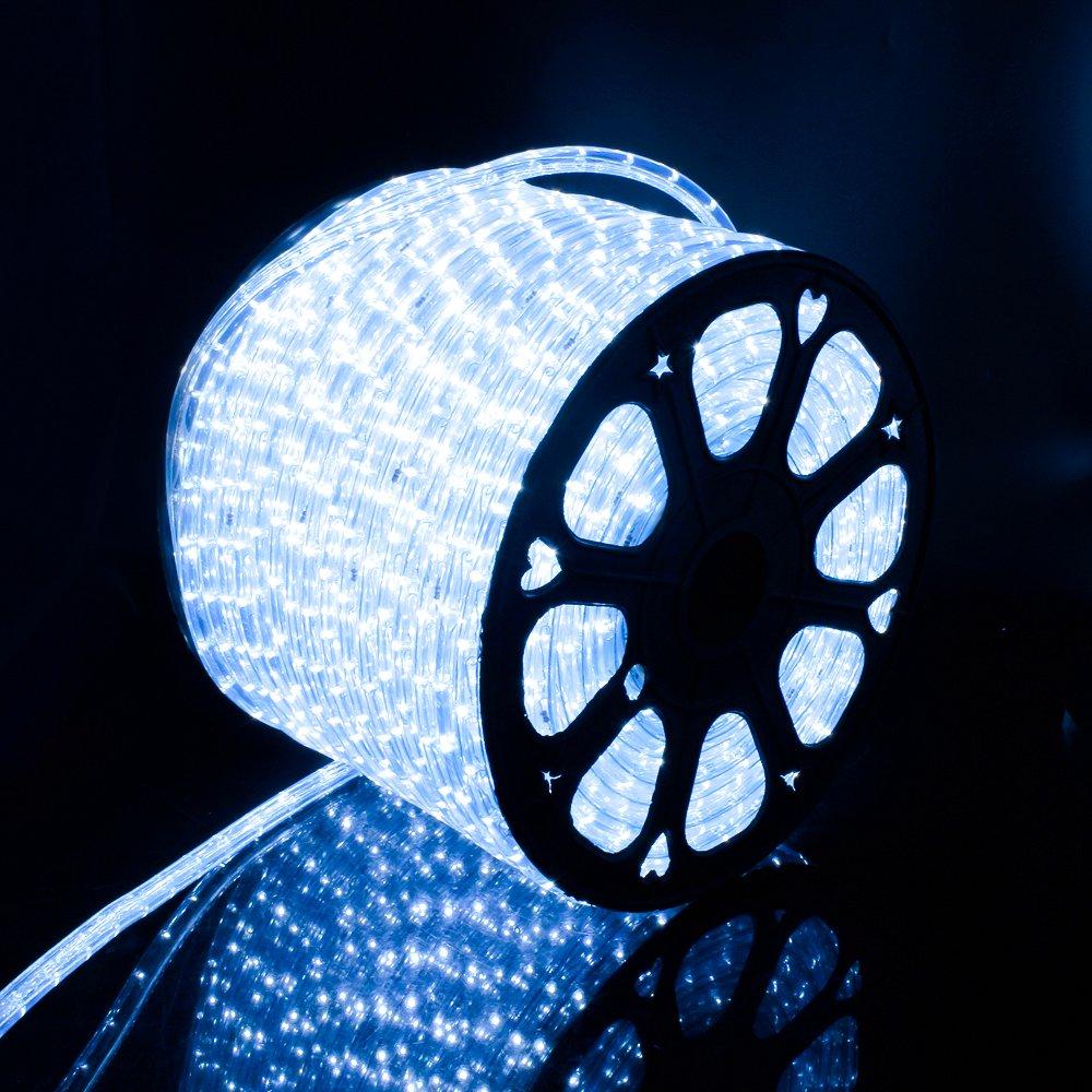 Kefflum 50M Tube Lumineux Blanc Froid No/ël Lumineux Int/érieurs et Ext/érieurs pour Jardin Mariage No/ël F/ête