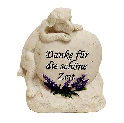 Grabstein Katze Hund Tiergrabstein Mit Spruch Polyresin Gedenkstein Danke Hund