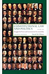 Constitutional Law and Politics, Vol.1: Struggles for Power and Governmental Accountability, 8th Edition Paperback