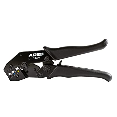 ARES 13000 - Professional Ratcheting Wire Terminal Crimper Tool - Perfect Crimp Every Time for 10 to 22 Gauge Insulated & Weather-Proof Terminals: Automotive