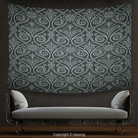House Decor arazzo nero antico barocco damasco stile gotico ...