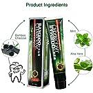 NICOOL pasta dental blanqueadora Carbón de Bambú Pasta de Dientes, Carbón activado Blanquear la crema dental negra