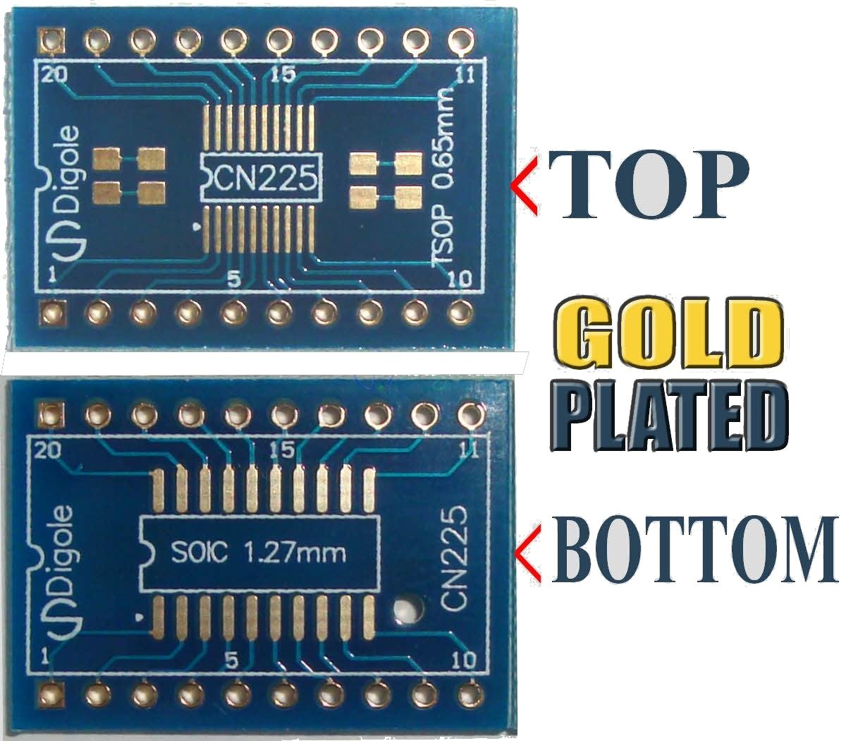 10pk So Sop Soic Ssop 14 16 20 Pitch 065mm And 127mm Small Outline Integrated Circuit To Dip Adapter Converter Computers Accessories