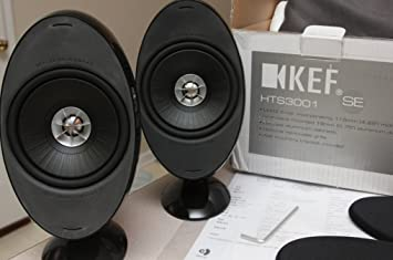 kef e301. kef hts3001bl black satellite speakers (pair) (discontinued by manufacturer) kef e301