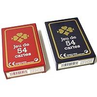 lot de 2 Jeux de 54 cartes Gauloise France carte cadeaux fête bleu rouge