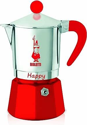 Bialetti - 8022 - Happy - Cafetière Italienne en Aluminium - 3 Tasses - Rouge: Amazon.es: Hogar