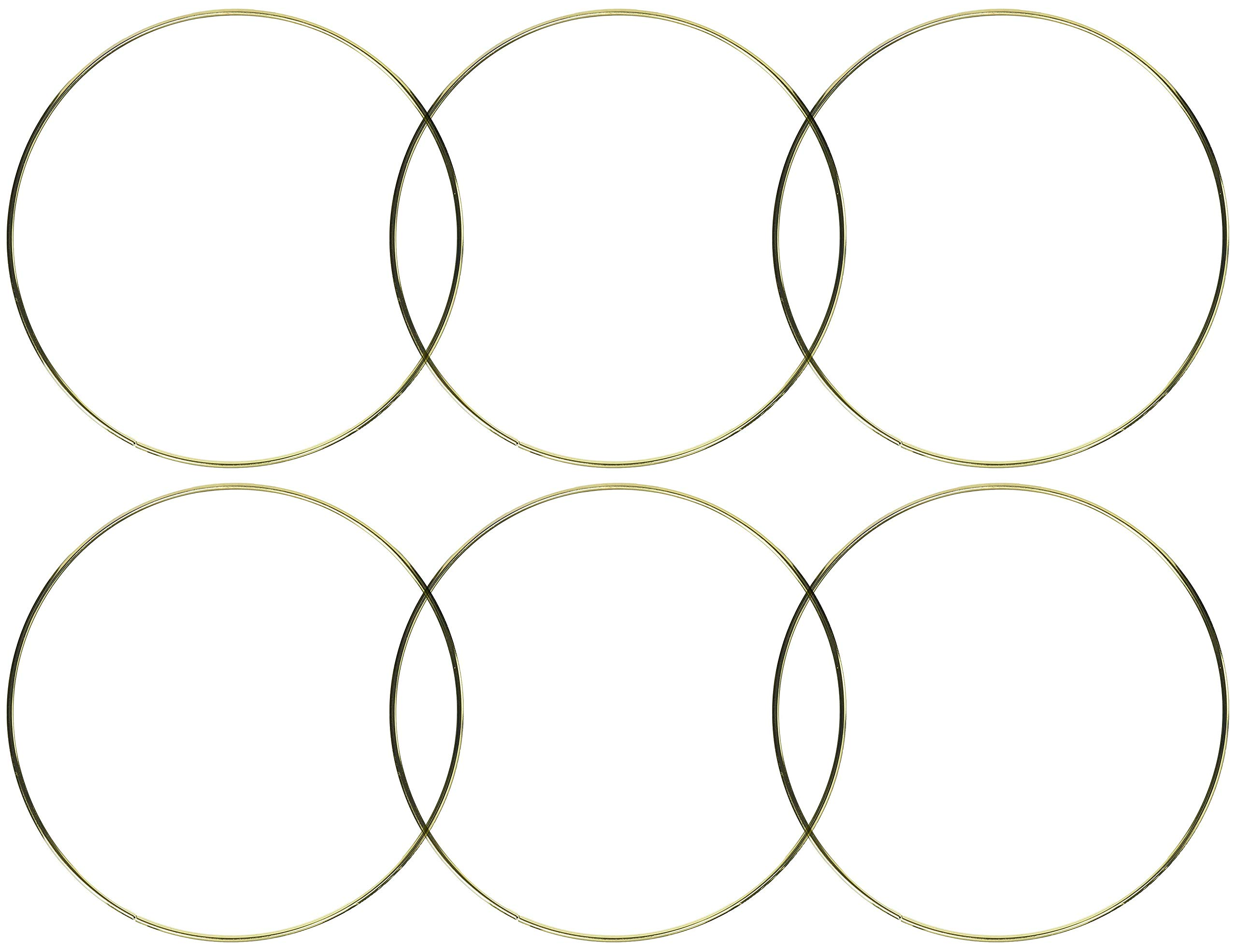 6-Pack - Darice Gold Metal Ring, 12-Inch by Darice (Image #2)