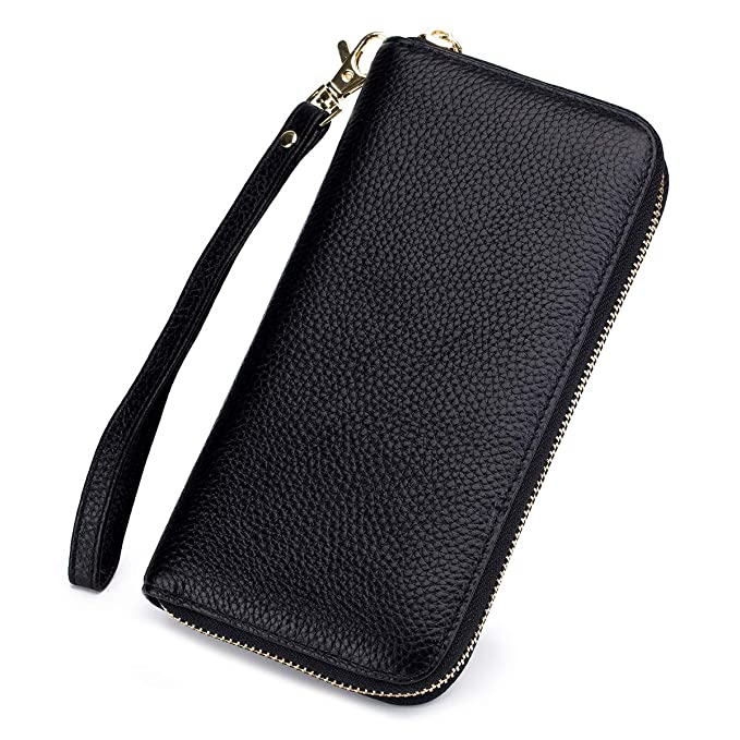 298f25674d74 imeetu RFID Leather Clutch Bag Wallet Credit Card Holder case Large Long  Purse for Women and Men