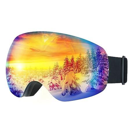 Mpow Gafas de Esquí,Gafas de Nieve de Snowboard Unisex con Anti ...