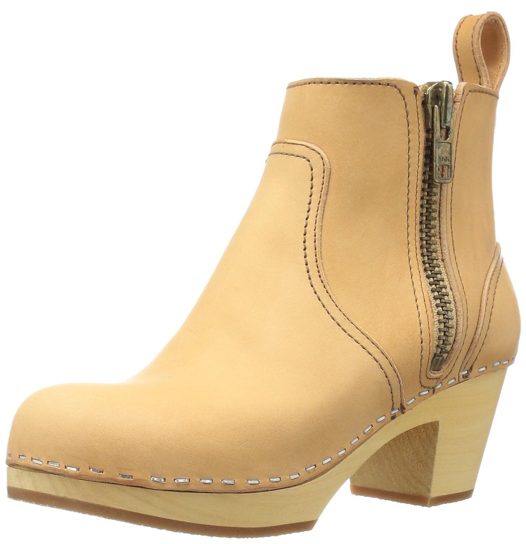 swedish hasbeens Women's Zip It Emy Ankle Boot B00ATGE67I 8 B(M) US|Nature