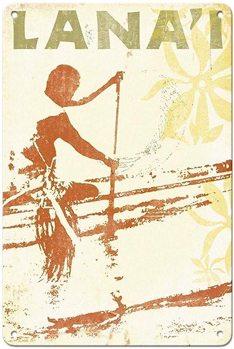 Shunry Lanai Hawaii Placa Cartel Vintage Estaño Signo Metal ...