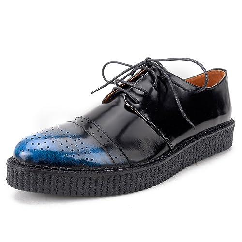 ccb5abd29390 Mens Leather Oxfords Platform Lace up Brogue Shoes  Amazon.co.uk ...