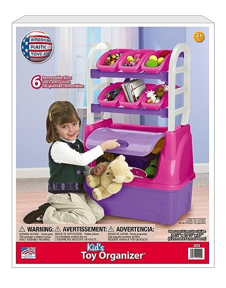 amazon com american plastic toys girl s toy organizer playset toys