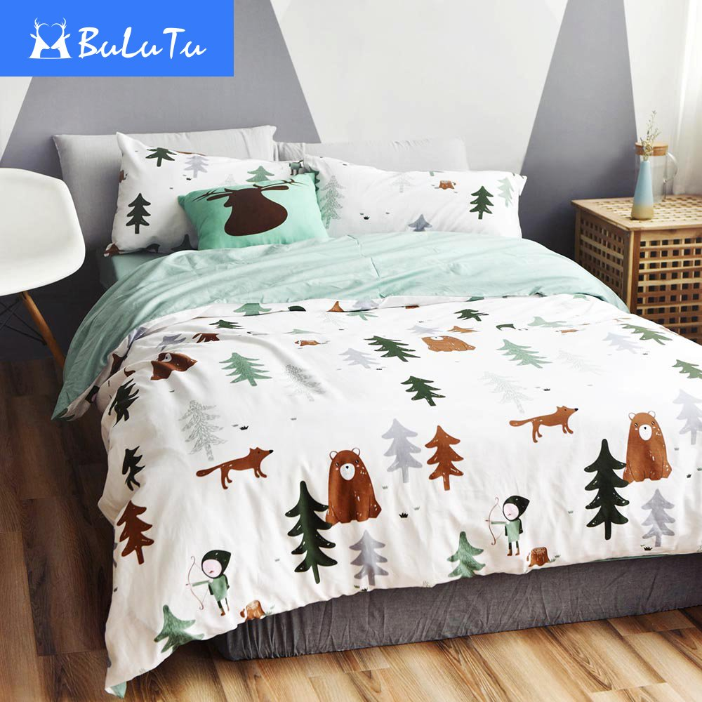 christmas red bed snowman pillow ski itm set cover nordic bedding case xmas duvet white multi