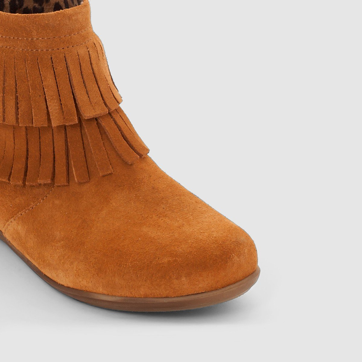 La Redoute Collections Big Girls Suede Zip-Up Ankle Boots