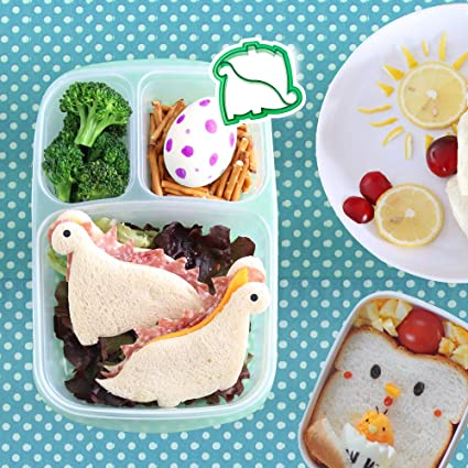 Suitable for Parties Premium Sandwich Cutters Lunch Box Set for Kids 50pcs Stainless Steel Bread Cutters Vegetables Bento Meals for Children All Ages Breakfast Fruits /& Cookie Slicer Kit