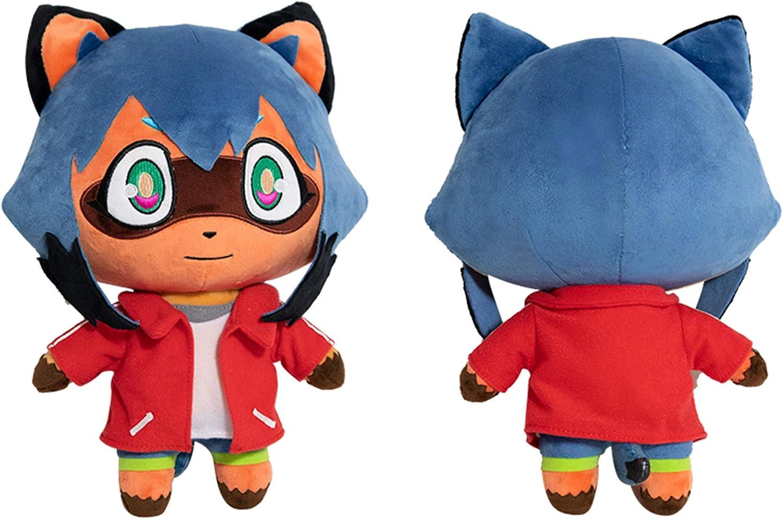 Amazon Com Lopbraa Animal Plush Doll Stuffed Animal Plush Toy Raccoon Plush Anime Kagemori Michiru Plushie Toys Games