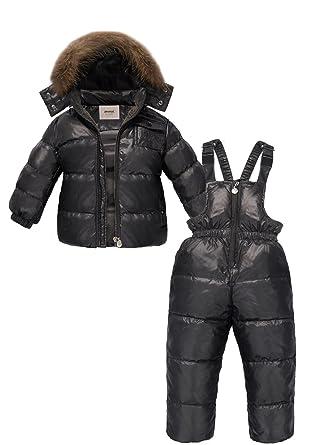 2bb0dd67f ZOEREA Unisex Boys Girls Winter Snowsuit Down Ski Pants Puffer ...