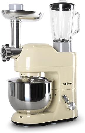 Klarstein Lucia Morena 1200W 5L Crema de color - Robot de cocina (5 L, Crema de color, 1,5 L, Acero inoxidable, 1200 W, 230 mm): Amazon.es: Hogar
