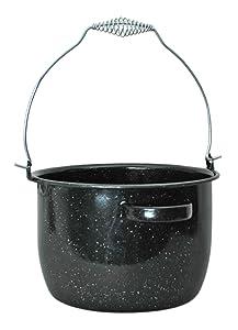 Granite Ware Preserving Kettle, 8-Quart, Black